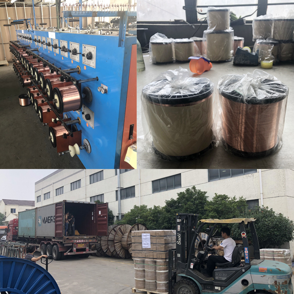 Deliver 9 tons of CCA single wires to Algeria