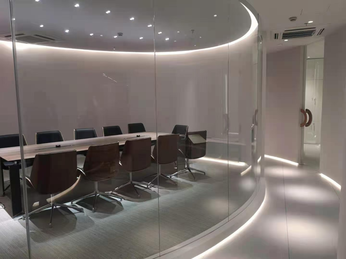 Our new meeting room with light open